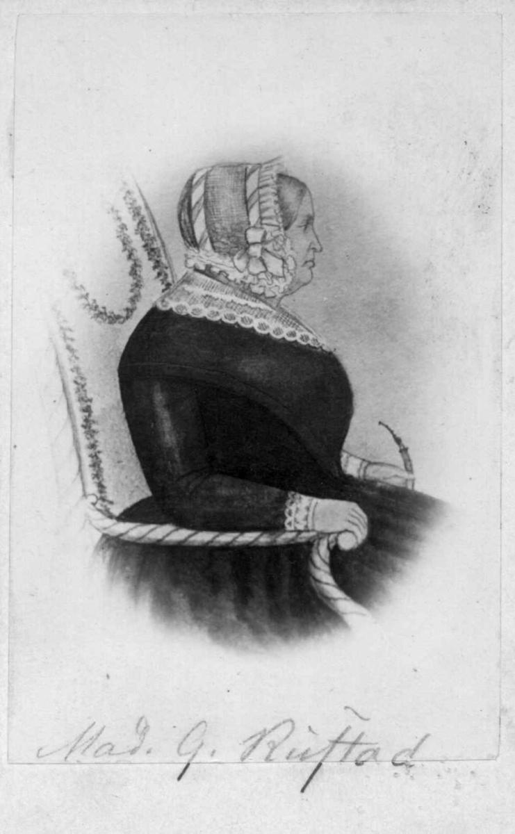 Portrett av Madame G. Rustad, Oslo?