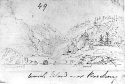 """KragerøFra skissealbum av John W. Edy, """"Drawings Norway 180"""