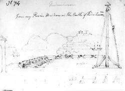 """StavernFra skissealbum av John W. Edy, """"Drawings Norway 180"""