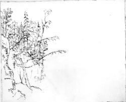 "Edy, JohnFra skissealbum av John W. Edy, ""Drawings Norway 1800""."