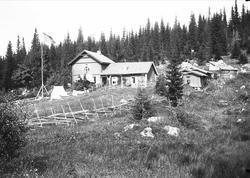 Huset på Holoa seter, Hadeland, Jevnaker, Oppland, 1903.