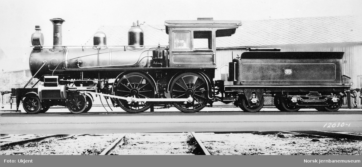 Randsfjordbanens damplokomotiv type XIX nr. 39 fra Baldwin Locomotive Works
