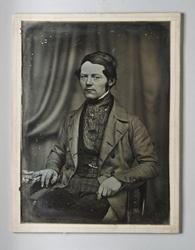 Självporträtt av daguerrotypisten och fabrikören Johan Wilhe