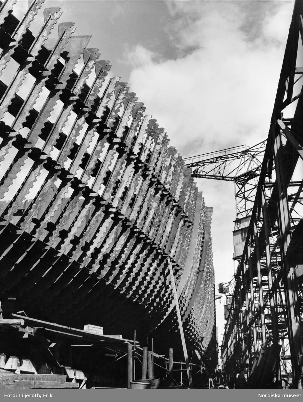 Byggnation av nytt fartyg från Kockums