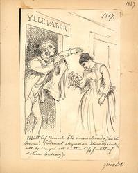 Teckning av Fritz von Dardel, daterad 1887, föreställande en