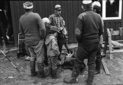 Storuman 1984. Älgjakt. Dokumentation i samband med filminsp
