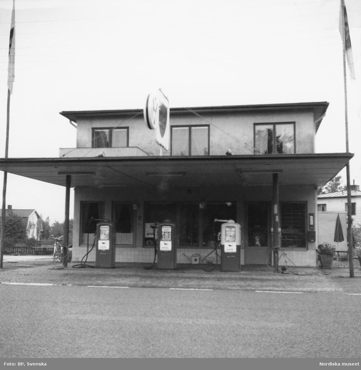BP:s bensinstation på Helsingborgsvägen, Klippan, Skåne.