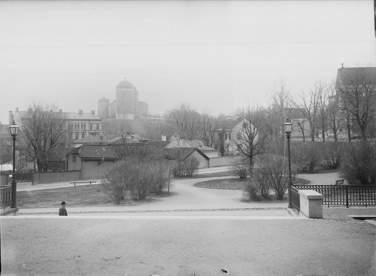 Riddartorget i Uppsala från norr, mot kvarteret S:t Erik, 1901 - 1902