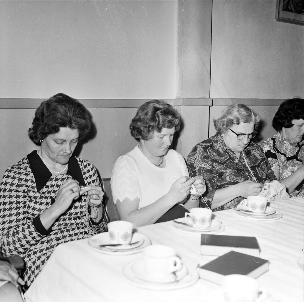 Syföreningens dag i Tobo, Tegelsmora socken, Uppland april 1973