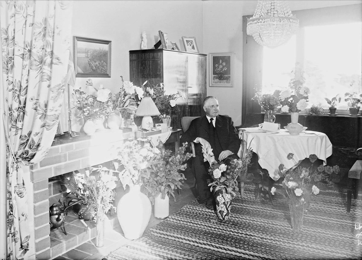 Födelsedagsporträtt - G Pettersson, Svartbäcksgatan 68, Uppsala 1952