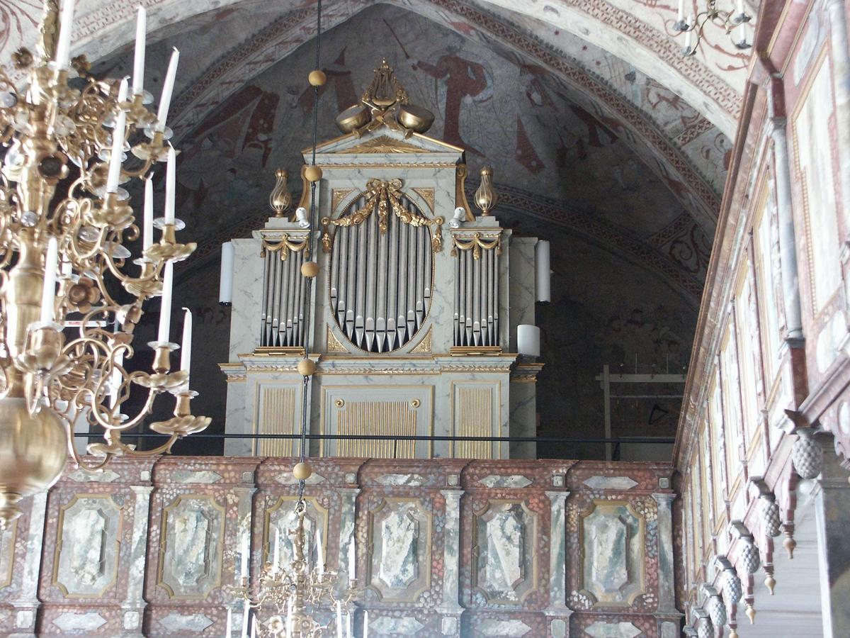 Orgel och orgelläktare i Skäfthammars kyrka, Skäfthammars socken, Uppland 2008