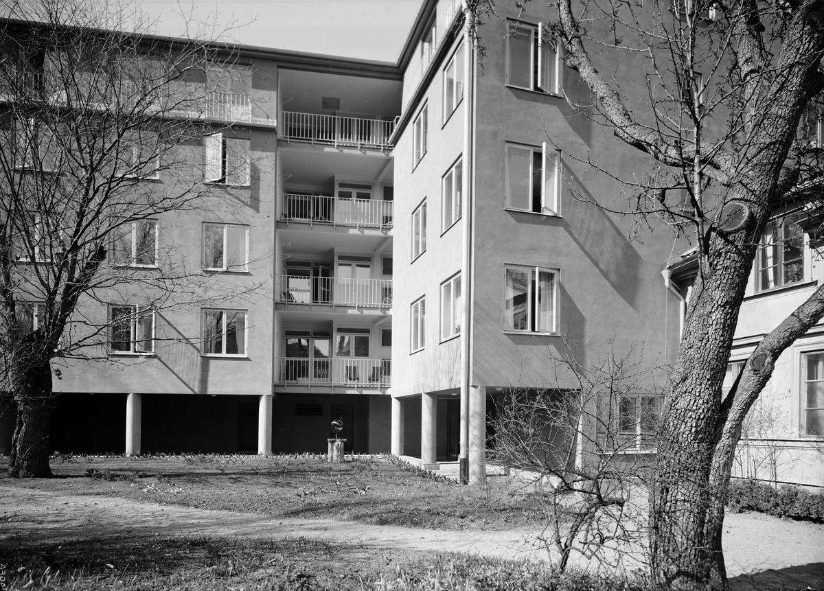Studentbostadshuset Arkadien, S:t Larsgatan - S:t Johannesgatan, Uppsala april 1938
