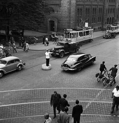 Stadstrafik i Oslo, Norge 1947