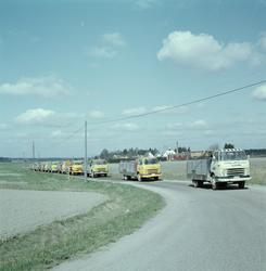 Storvreta bryggeri, bryggeribilar, Rasbo, Uppland, maj 1962