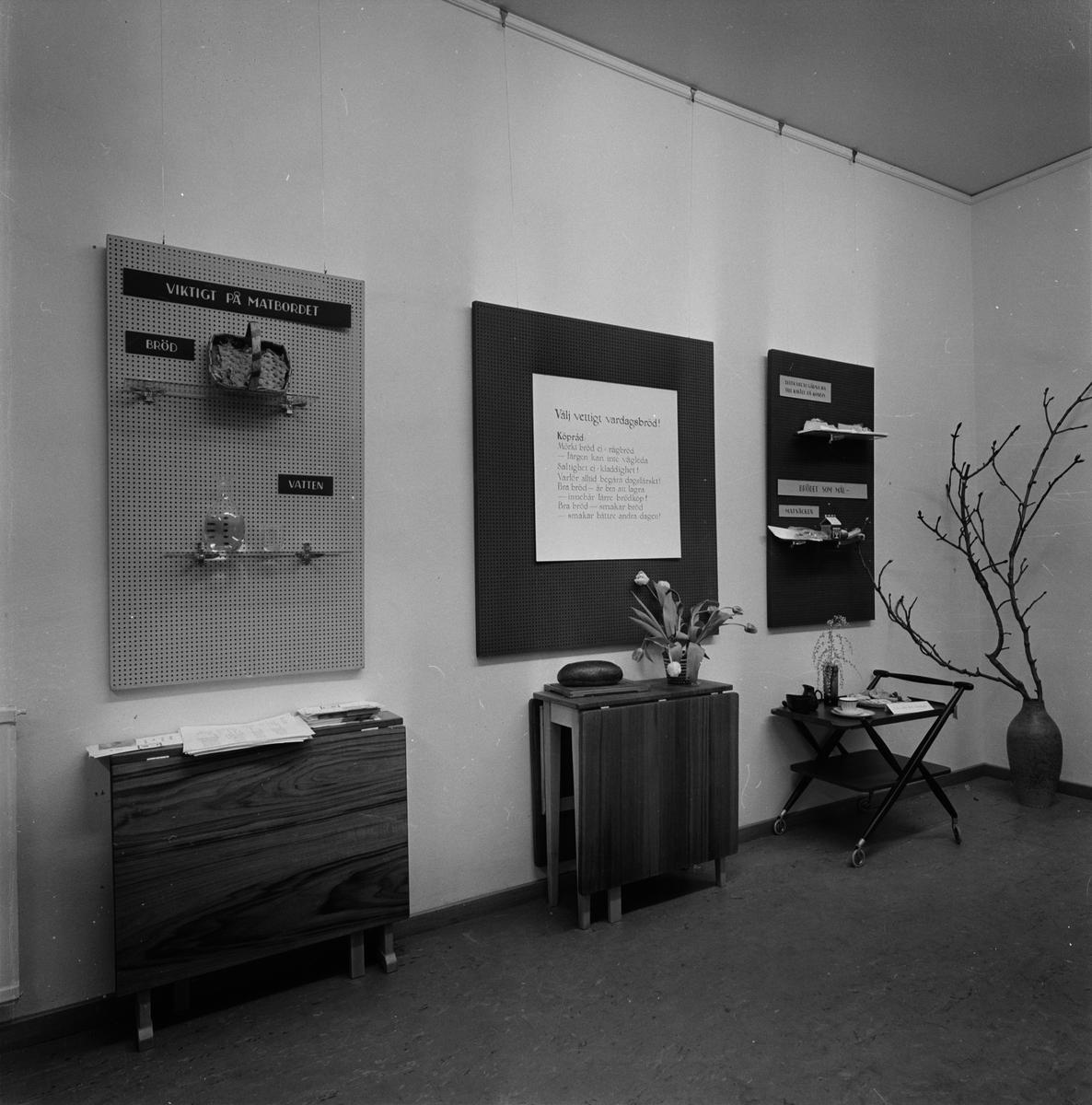 Landstinget, brödutställning på Diagonalen, Uppsala februari 1957