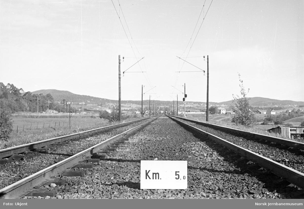 Hovedbanen : linjeføring km 5,0
