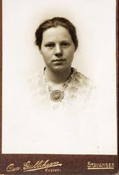 Portrett av Sigrid Seland fra Grindheim.