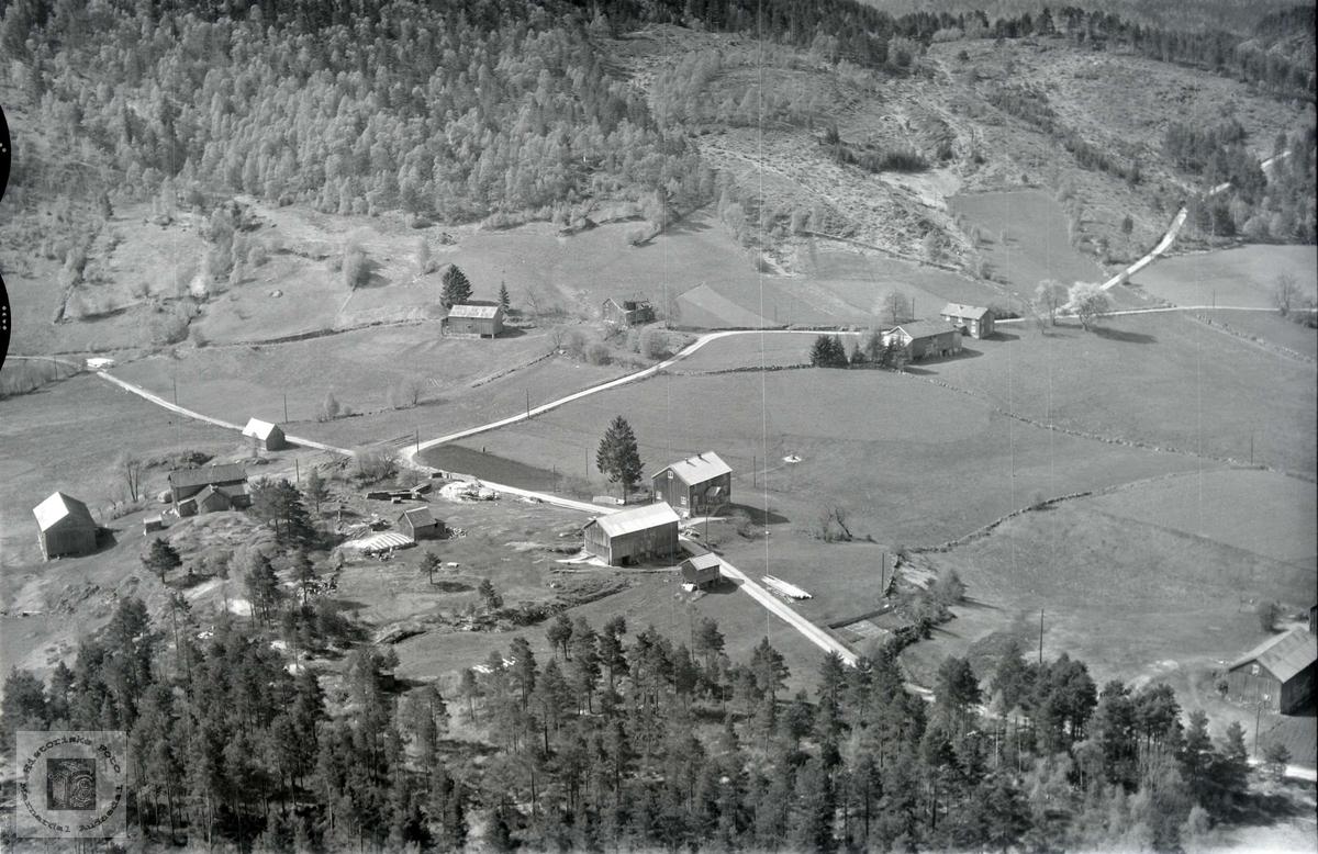 Flyfoto over Øvre Ågedal i Grindheim senere Audnedal.