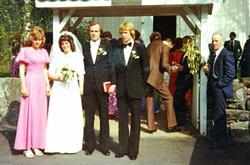 Bryllup til Torveig og John Vasland, Grindheim Audnedal.