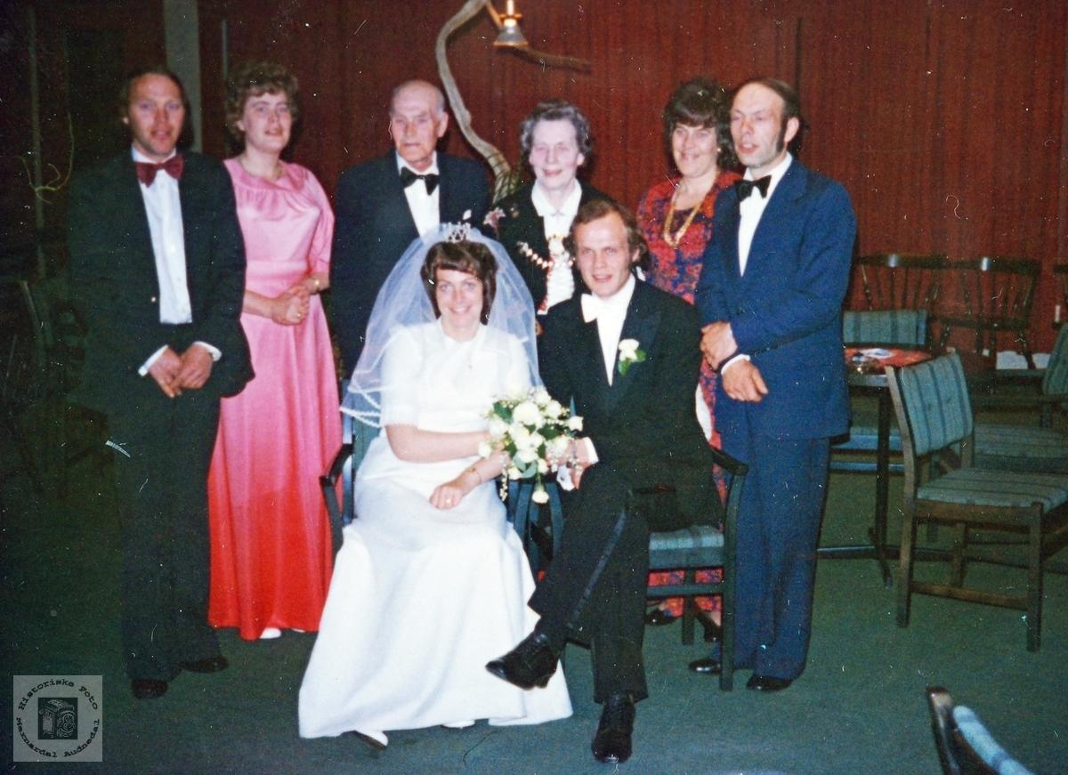 Brudens familie Rydlende, Grindheim Audnedal.