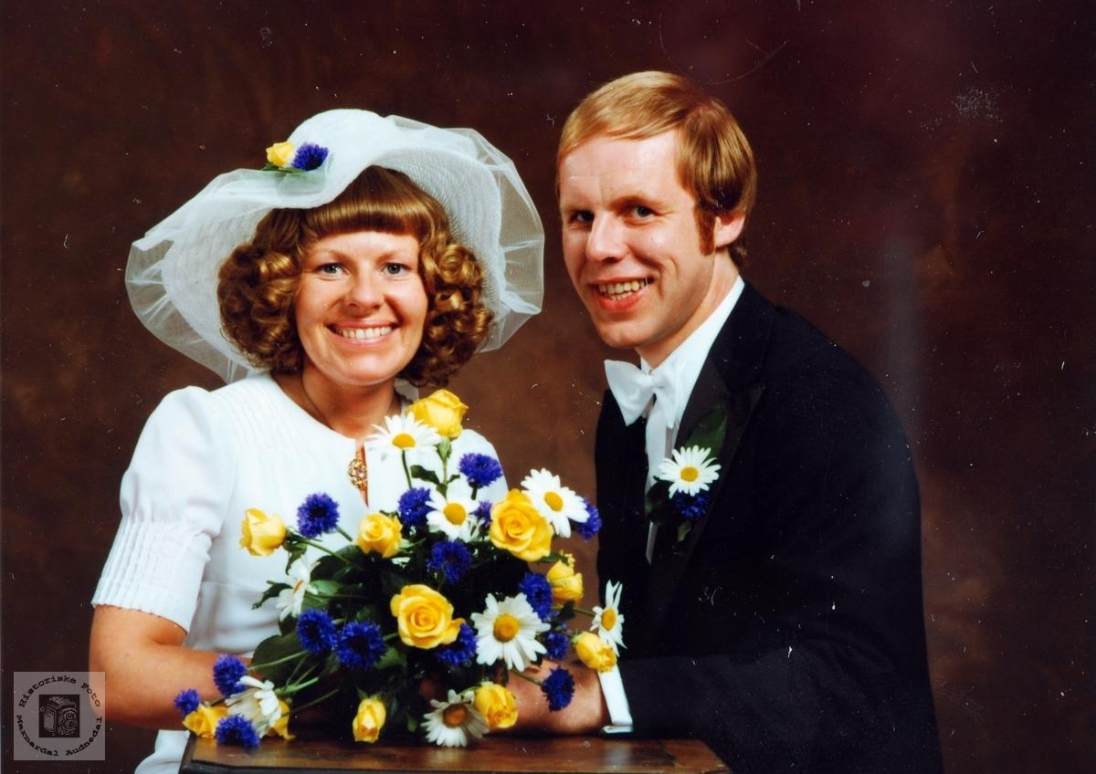 Brudebilde av Marit og Torje Kasten Grindheim. Audnedal.