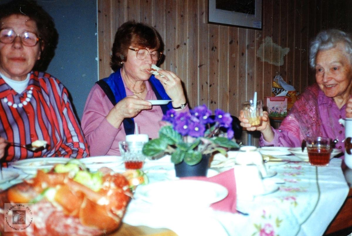 Bondekvinnelaget på Byremo har fest. Audnedal.