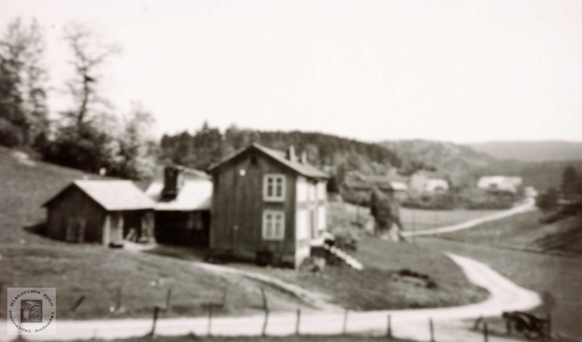 Gammel gard på Sveindal. Grindheim Audnedal.