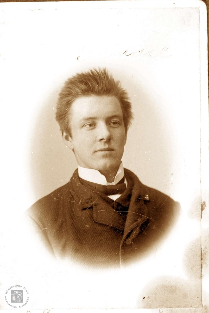 Portrett av Søren Sveindal. Grindheim.
