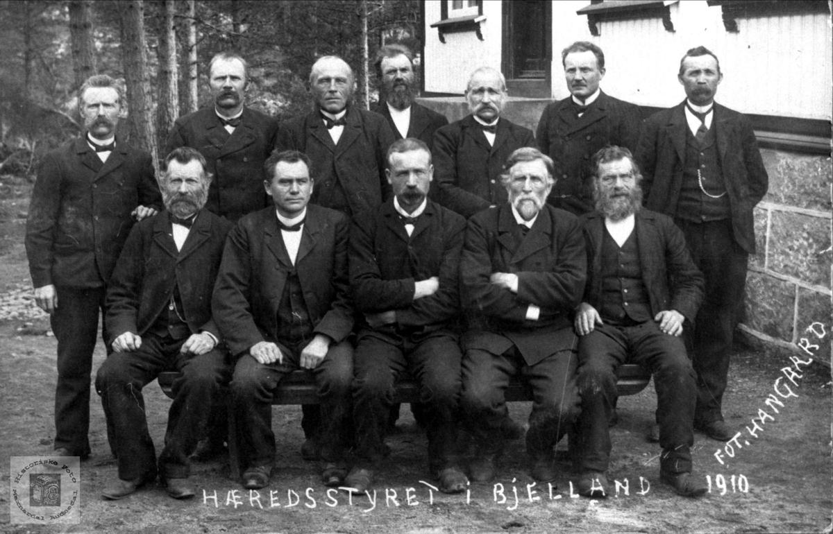 Første kommunestyre i Bjelland.