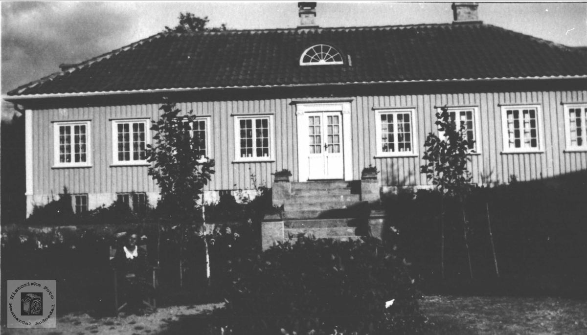 Setehuset til Odd Kristian Ingemann Tønnessen på Kaddan i Laudal.