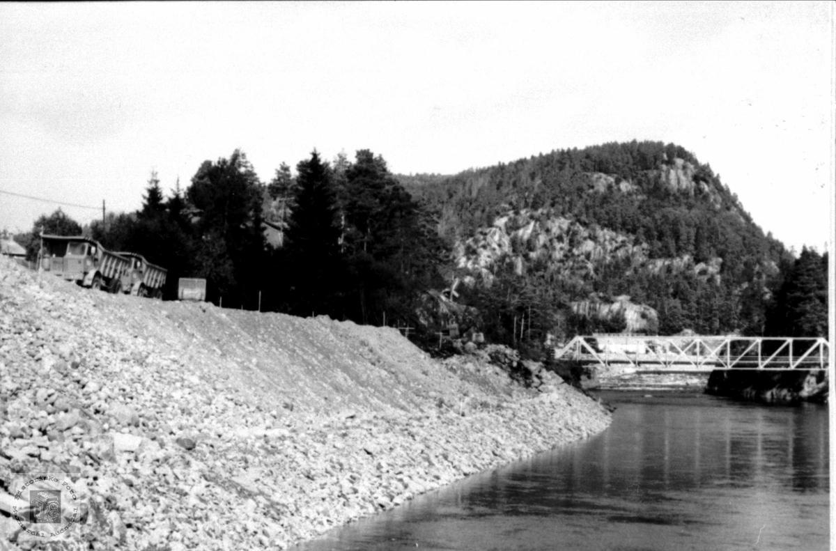 Utbygginga av kraftanlegget på Laudal.