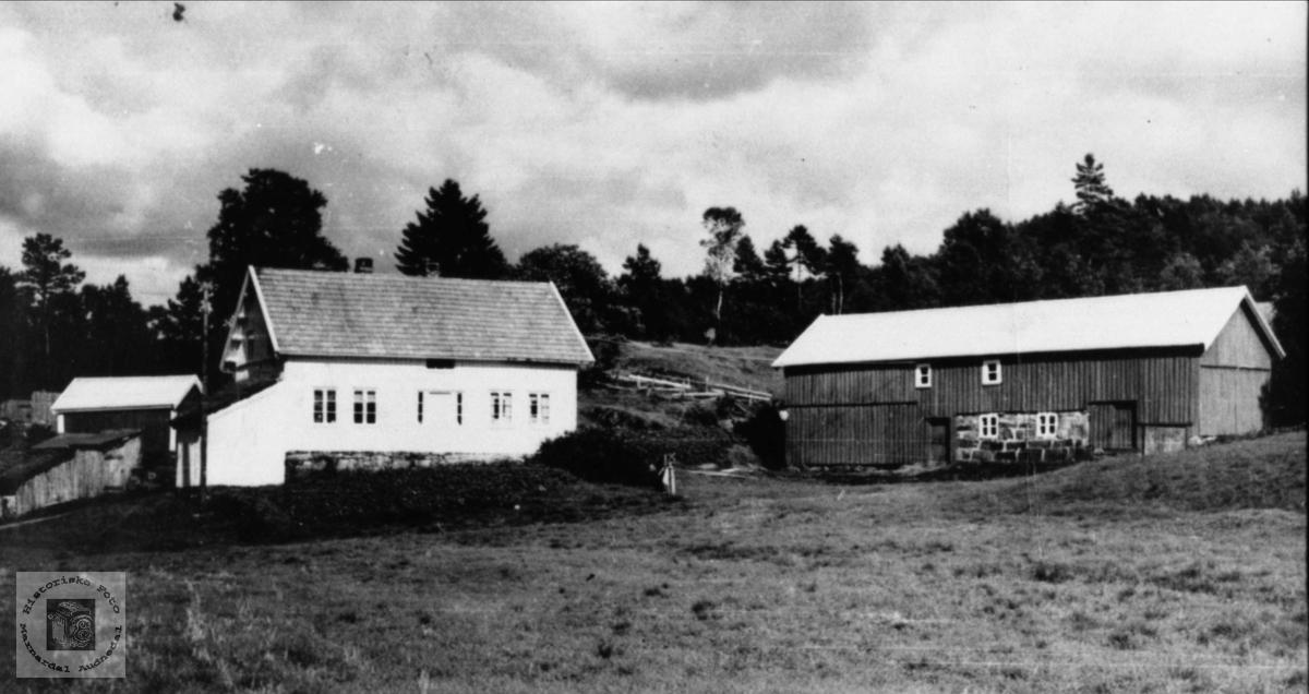Gardsbruk. Reinert og Edvarts barndomsheim Birkeland, Laudal.