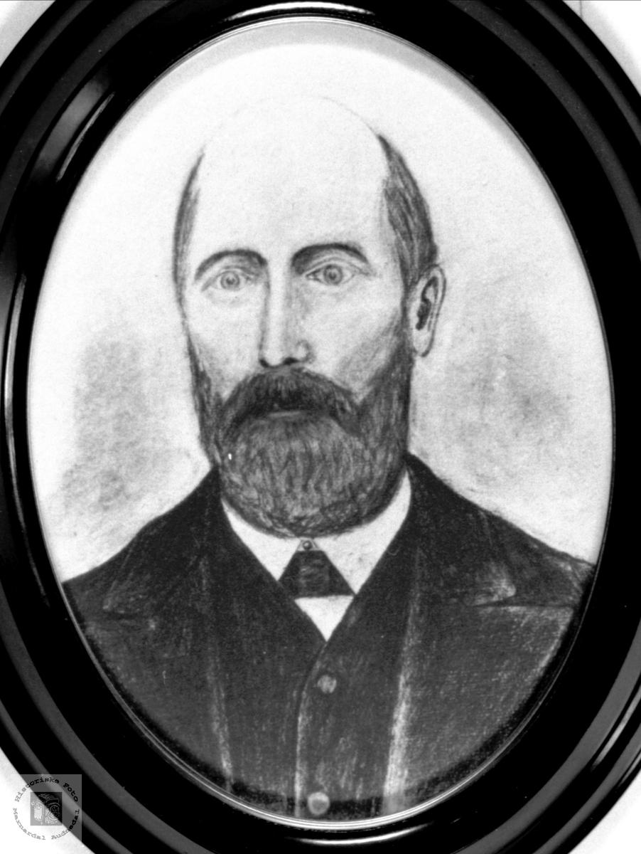 Portrett av Haagen Skjævesland, Øyslebø.