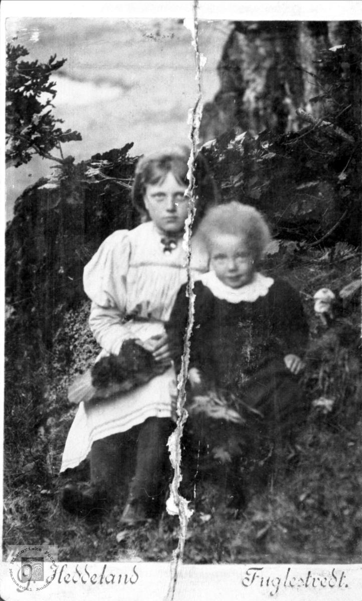 Barneportretter av Marthe Egelandså og Aashilde Svanlaug Fuglestveit, Øyslebø.