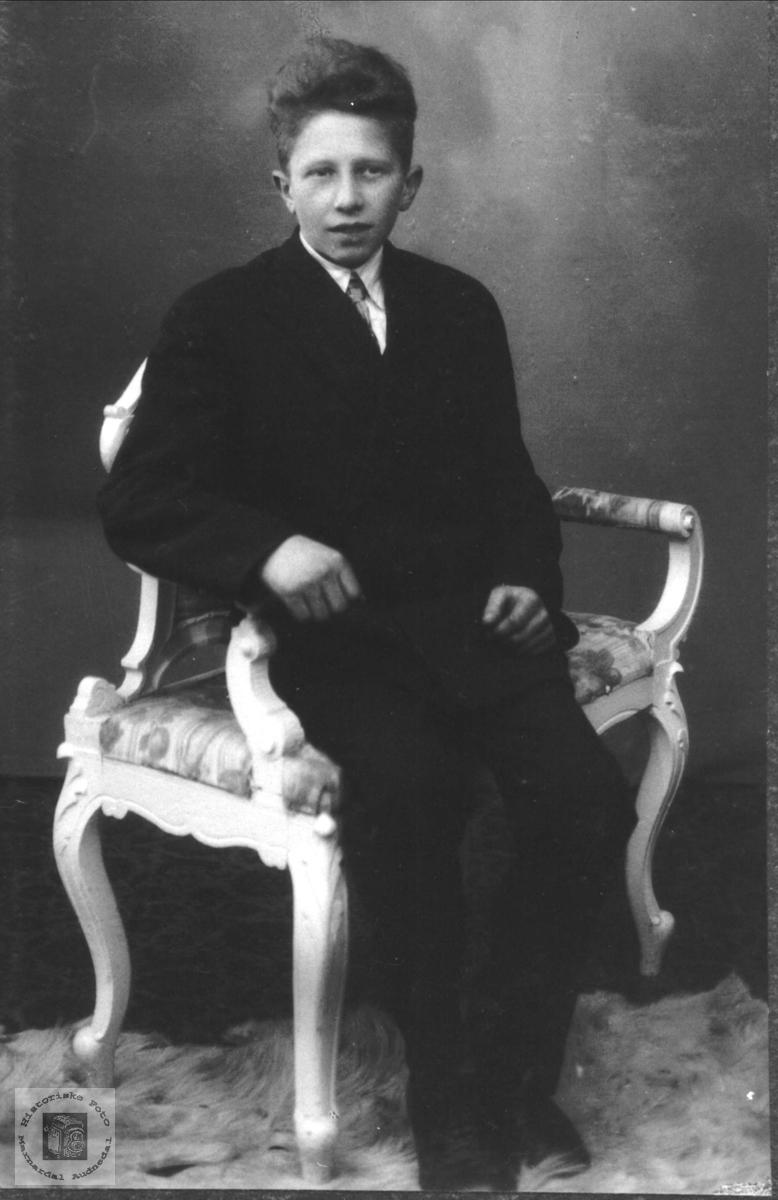 Portrett av Olav J. Manneråk, Øyslebø.