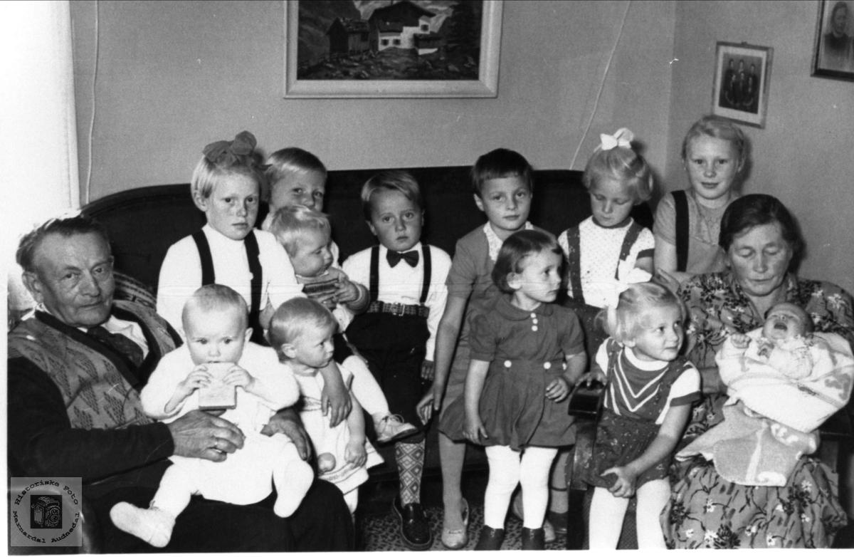 Besteforeldre og barnebarn Vigemyr, Øyslebø.
