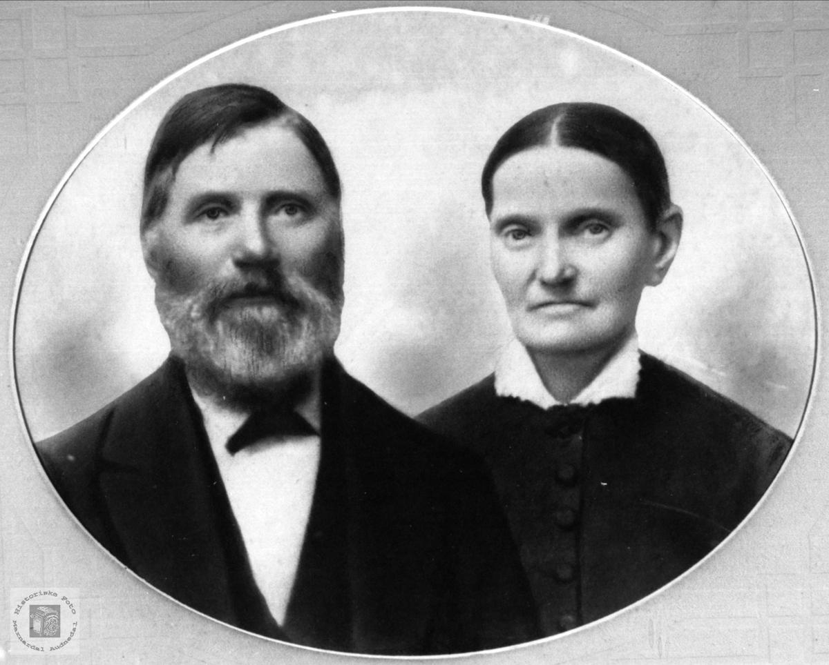 Ekteparet Erik og Rakel Tomine Skjævesland, Øyslebø.