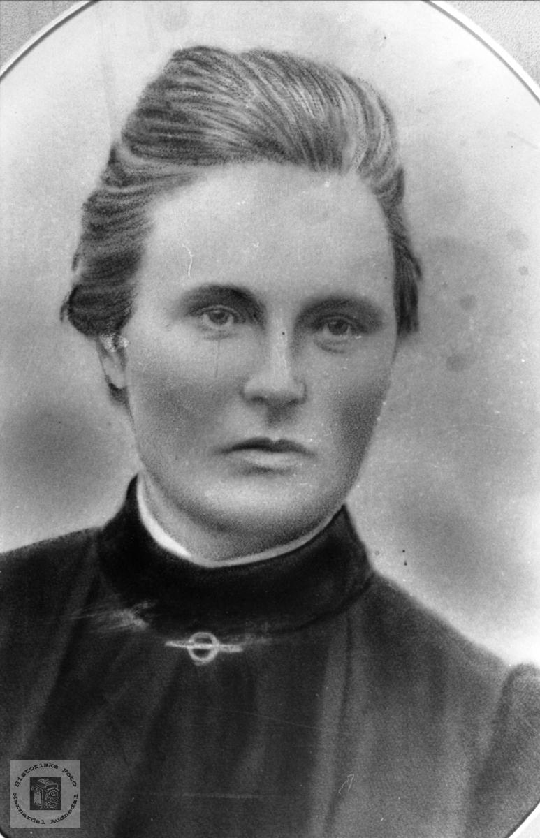 Portrett av Johanne Kristine Bjørnestøl