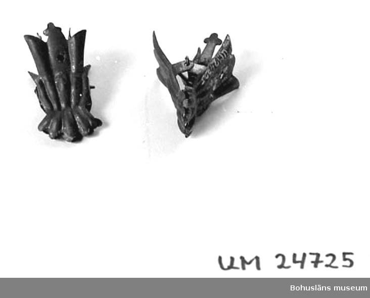 Låg i kexburk UM024720 när den inkom till museet.