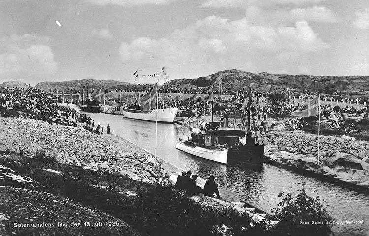 Sotenkanalens invigning den 15 juli 1935