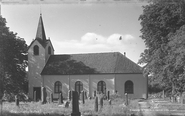 """Enligt AB Flygtrafik Bengtsfors: """"Dragsmark kyrka Bohuslän""""."""