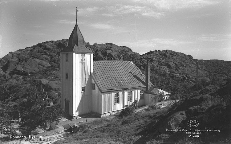 """Enligt AB Flygtrafik Bengtsfors: """"Rönnäng kyrka Bohuslän""""."""