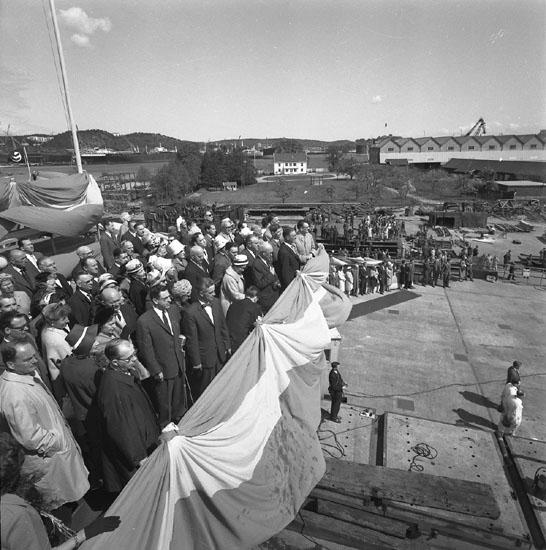 Dop och sjösättning av fartyg 204 T/T Asa V. Calls.