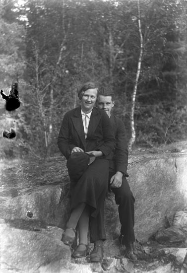 Lantbrukarparet Signe och Evald Ericsson, Kullen Gunnarby, Skredsvik
