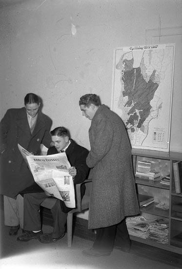 """Enligt notering: """"Boxningar Idrottshallen 29/11 1947""""."""