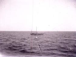 """Enligt text som medföljde bilden: """"Fyrskeppet Läsö Trindel""""."""