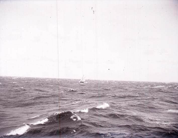 """Enligt text som medföljde bilden: """"Seglare i storm."""""""