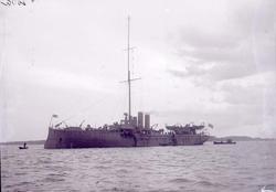 """Enligt text som medföljde bilden: """"Minfartyget Edda Aug 11""""."""
