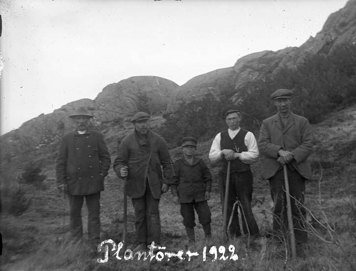 """Skrivet på bilden: """"Plantörer 1922."""""""