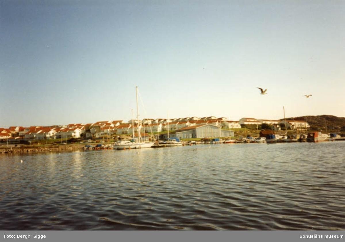 """Enligt text på fotot: """"Väjern med Tumlaren och husen på berget (som många står tomma) Bilden tagen 1994""""."""